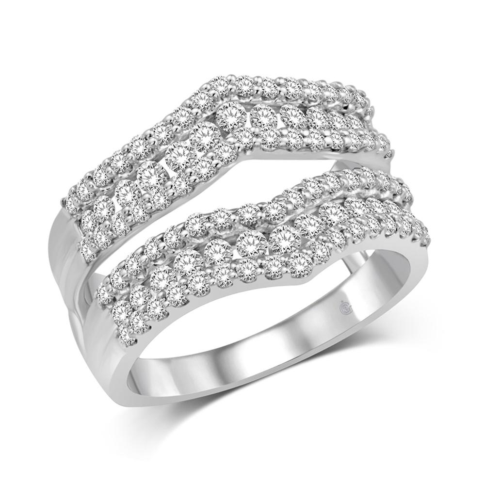 14K White Gold 1 1/6 Ct.Tw. Diamond Fashion Guard