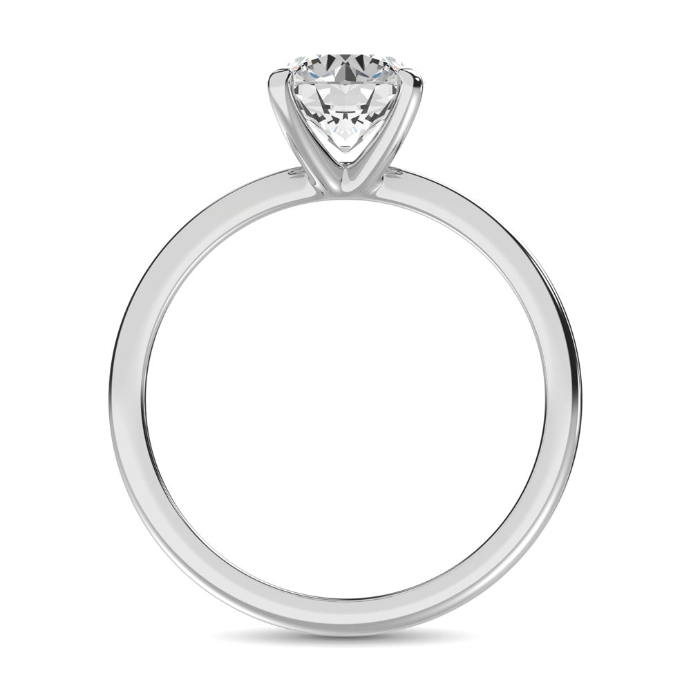 14K White Gold Diamond 1/6 Ct.Tw. Premium Solitaire Ring