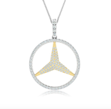 14kt Gold Diamond 3 Point Star Pendant Available in White or yellow Gold