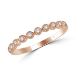 14K Rose Gold 1/6 Ct.Tw. Diamond Stackable Band