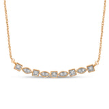 14K Yellow Gold 1/5 Ct.Tw. Diamond Stackable Necklace