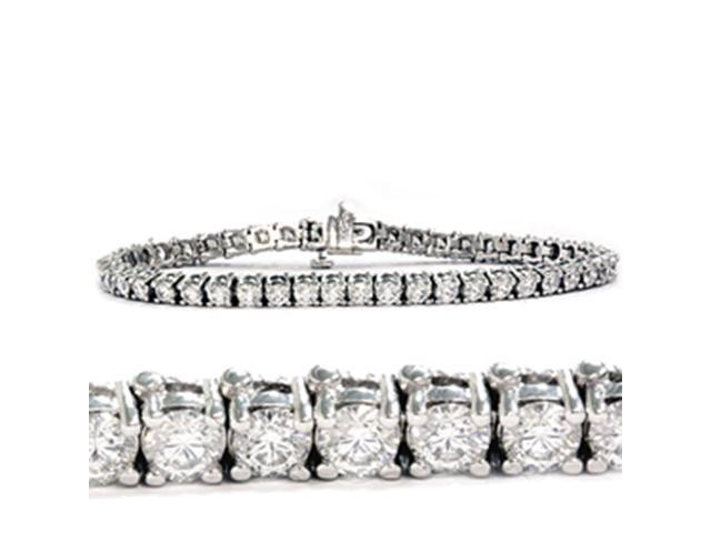 14kt White Gold Classic Tennis Bracelet 3.00ct Total Weight Round Brilliant Cut Diamonds
