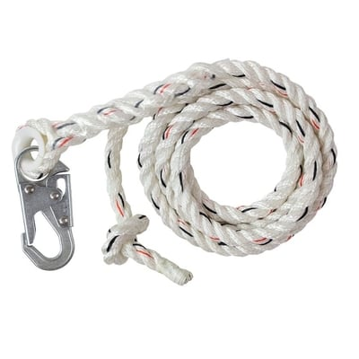 Vertical Lifeline with Snap Hook - All Sizes