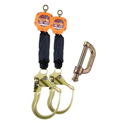 Dual 6 ft Pygmy Hog SRLs with Connector Kit Hooks - All Sizes