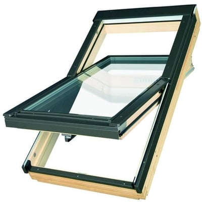 Fakro FTT U6 Centre Pivot Deck-Mounted Roof Window Triple glazed