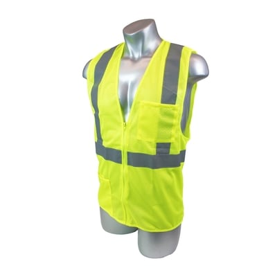 High Visibility Yellow Field Vest - All Sizes