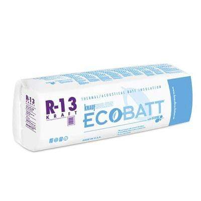Knauf Ecobatt R-13 Kraft Faced Fiberglass Insulation Batts - All Sizes Batts