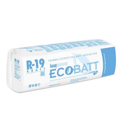 Knauf Ecobatt R-19 Kraft Faced Fiberglass Insulation Batts - All Sizes Batts