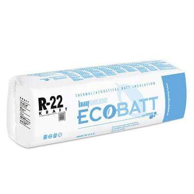 "Knauf Ecobatt R-22 Kraft Faced Fiberglass Insulation Batts 6.5"" x 15"" x 48"" Batts"