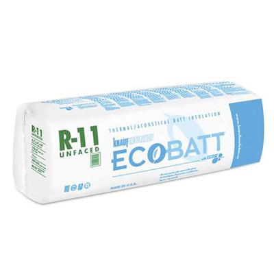 Knauf Ecobatt R-11 Unfaced Fiberglass Insulation Batts - All Sizes Batts