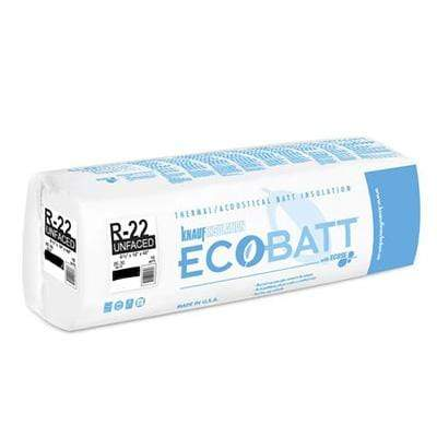 "Knauf Ecobatt R-22 Unfaced Fiberglass Insulation Batts 6.5"" x 23"" x 48"" Batts"