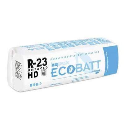 "Knauf Ecobatt R-23 Unfaced Fiberglass Insulation Batts 5.5"" x 15"" x 93"" Batts"