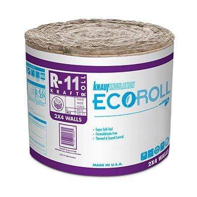 Knauf Ecoroll R-11 Kraft Faced Fiberglass Insulation Roll - All sizes Roll