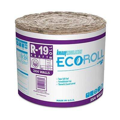 Knauf Ecoroll R-19 Kraft Faced Fiberglass Insulation Roll - All sizes Roll