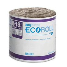 "Load image into Gallery viewer, Knauf Ecoroll R-19 Unfaced Fiberglass Insulation Roll 6.25"" x 15"" x 39.2' Roll"