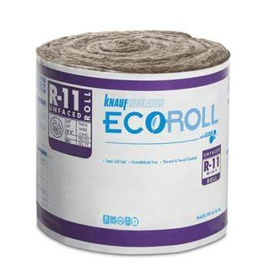 Knauf Ecoroll R-11 Unfaced Fiberglass Insulation Roll - All sizes Roll