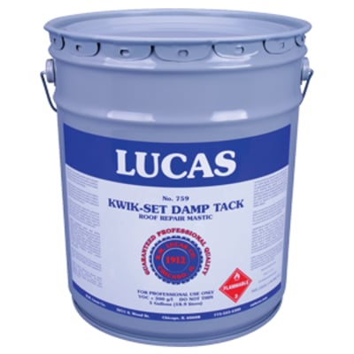 Kwik Set Damp Tack #759 - 5 Gallon Bucket - Lucas