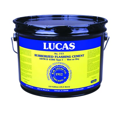 Lucas Rubberized Flashing Cement #777 - Wet/Dry Utility - Full Range