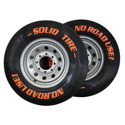 XSERIES Solid Pneumatic Tire (set) Option - Malta Dynamics