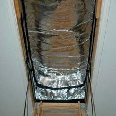 "Image of Tempshield® Reflective Attic Stair Cover 56"" x 25"" x 9"" Loft Insulation"