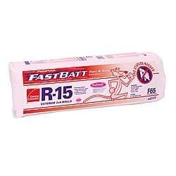 Image of Owens Corning EcoTouch R15 Paperfaced FastBatts (All Sizes) 3.5 in x 15 in x 93 in FastBatt
