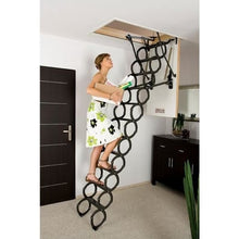 Load image into Gallery viewer, Fakro LST Insulated Scissor Attic Ladder