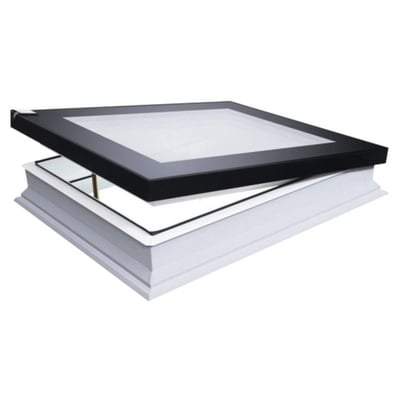 Fakro DEF DU6 Electric Vented Flat Roof Deck-Mounted Skylight Triple glazed
