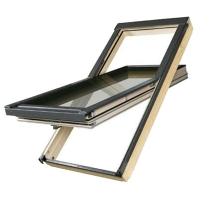 Fakro FTT U8 Centre Pivot Deck-Mounted Roof Window Thermo Quadruple glazed