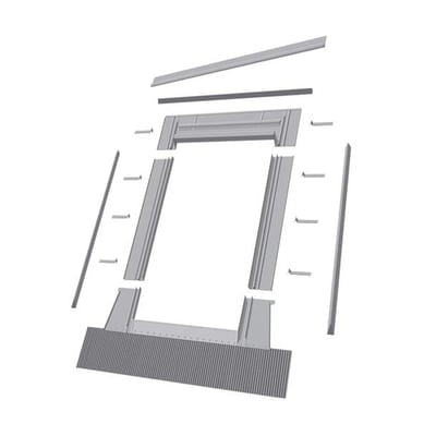 Image of Fakro Aluminum High-Profile Tile Roof Flashing Kit for Egress Roof Window