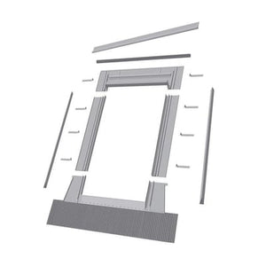 Fakro Aluminum High-Profile Tile Roof Flashing Kit for Egress Roof Window