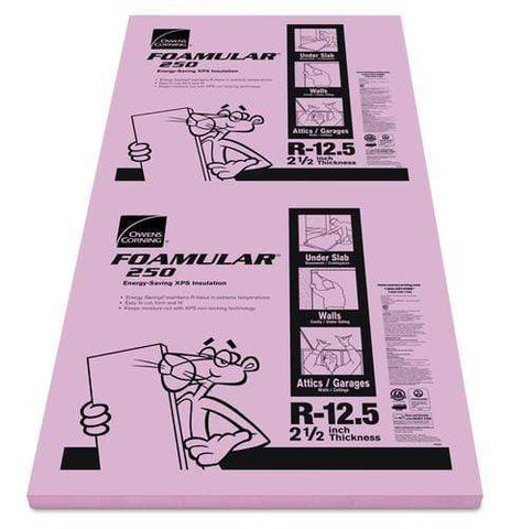 Image of Owens Corning FOAMULAR 250 XPS Insulation Board - All Sizes 2.5 in Owens Corning
