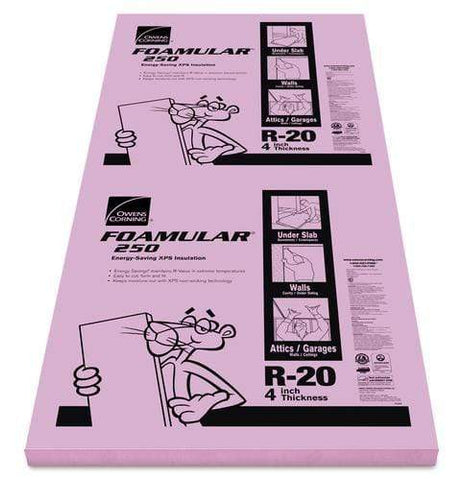 Image of Owens Corning FOAMULAR 250 XPS Insulation Board - All Sizes 4 in Owens Corning