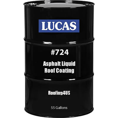 Asphalt Liquid Roof Coating #724 - Standard - Full Range Roof Coatings