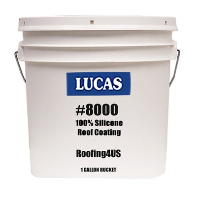LUCAS #8000 Silicone Roof Coating, High Solids