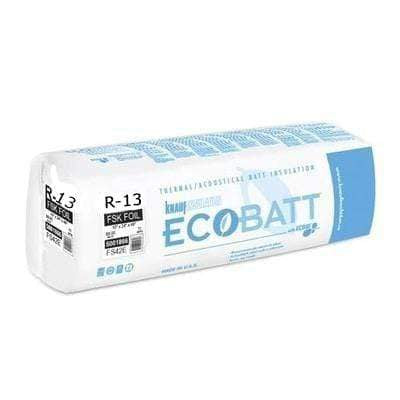 Knauf Ecobatt R-13 FSK-25 Fiberglass Insulation Batts - 3.5 in x 16 in x 96 in Batts