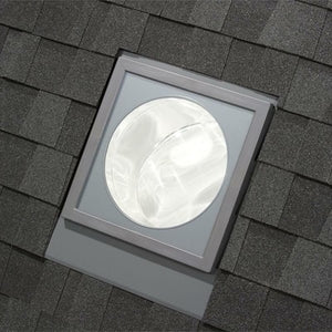 14 in. Flat Glass Rigid Sun Tunnel with Low Profile Metal Flashing and Solar Night Light