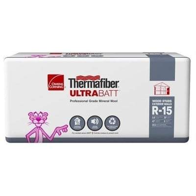 Image of Owens Corning Thermafiber UltraBatt R-15 (All Sizes) 3.5 in x 24 in x 48 in Owens Corning