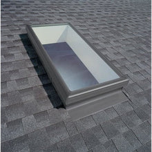 Load image into Gallery viewer, Velux Fixed Deck Mount Skylight with Laminated Low-E3 Glass and White Solar Powered Room Darkening Blind