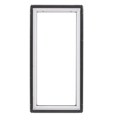 Image of VELUX Fixed Deck Mount Skylight with Laminated Low-E3 Glass w/ White Solar Powered Light Filtering Blind