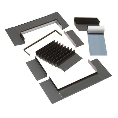 Aluminium Flashing Kit for deck mount shingle roof skylight