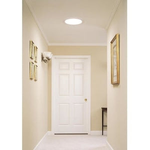 Velux 14 in. Flat Glass Rigid Sun Tunnel with Low Profile Metal Flashing and Solar Night Light
