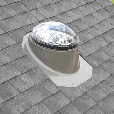 Image of Velux Rigid Sun Tunnel with Acrylic Dome and Pitched Metal Flashing