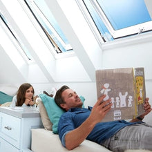 Load image into Gallery viewer, VELUX Solar Powered Venting Curb Mount Skylight with Laminated Low-E3 Glass