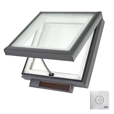 VELUX Solar Powered Venting Curb Mount Skylight with Laminated Low-E3 Glass