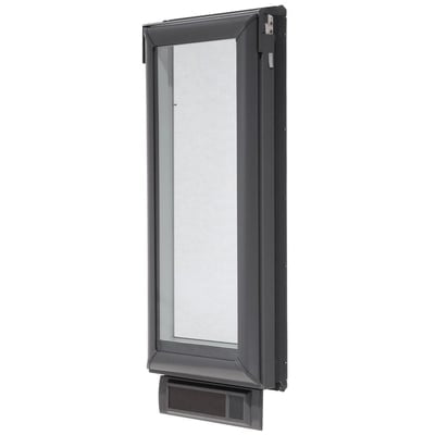 Solar Powered Venting Deck Mount Skylight with Laminated Low-E3 Glass and White
