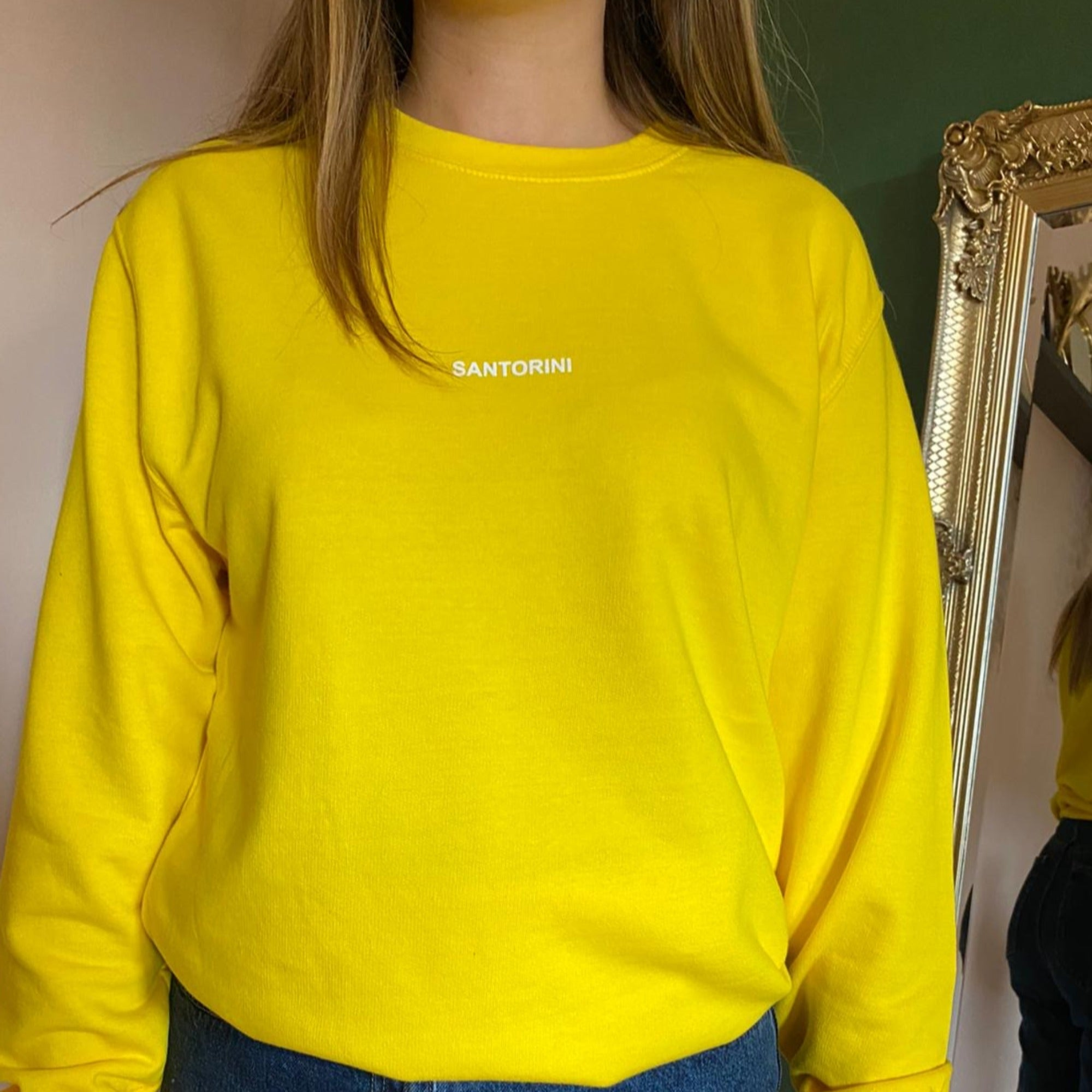 OVERSIZED SANTORINI SWEATSHIRT IN YELLOW