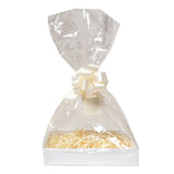 White Hamper Tray with Cellophane wrap