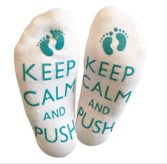 Keep Calm And Push - Mum to be Socks