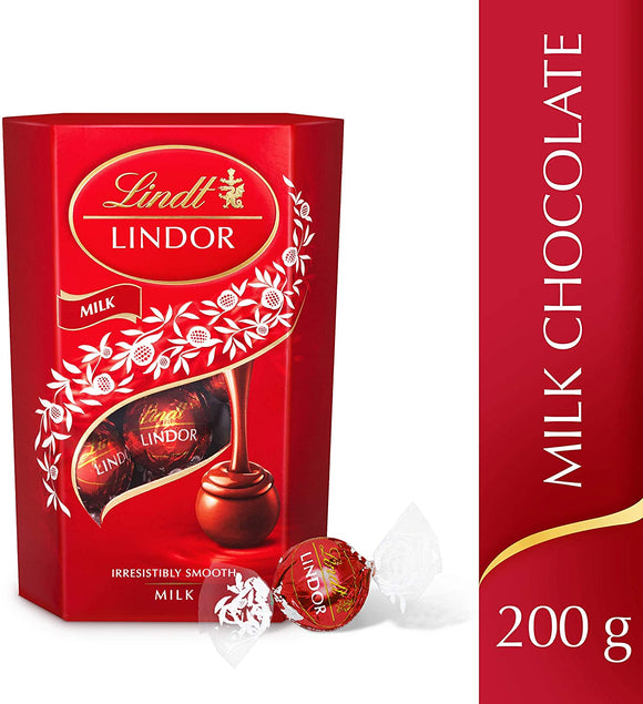 Lindt Lindor Milk Chocolate Truffles Box  200 g