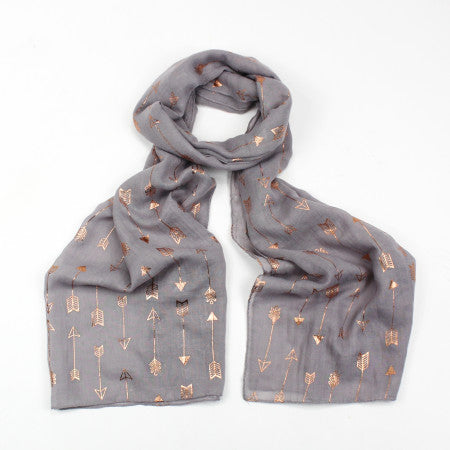 FOIL ARROW LIGHT GREY SCARF